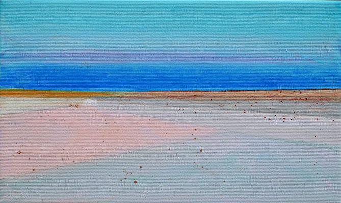 Dansk sommer 2 acryl on canvas  18 cm / 30 cm
