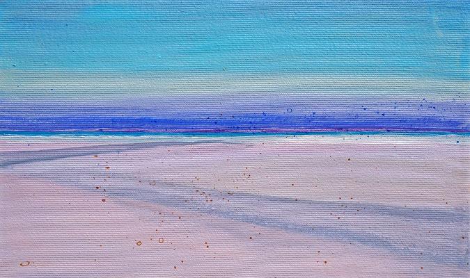 Dansk sommer 4 acryl on canvas  18 cm / 30 cm