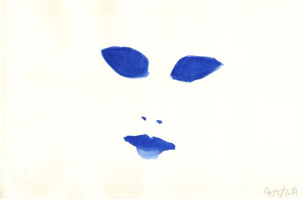 Ohne Titel, 2014, Aquarell auf Papier, 21 x 29,5 cm
