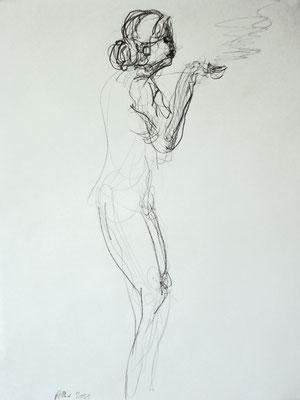 Espresso, 2011, Graphit auf Papier, 59 x 42 cm