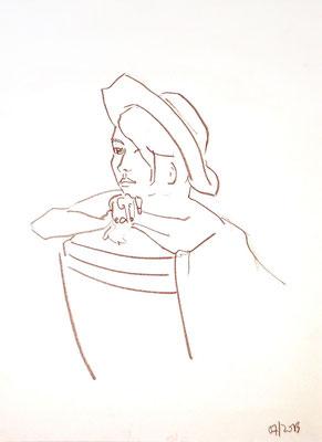 Felicitas 2, 2013, Pastellkreide auf Papier, 59 x 42 cm
