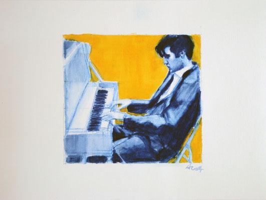 Sentimental Me, 2014,  Aquarell auf Papier, 42 x 56 cm