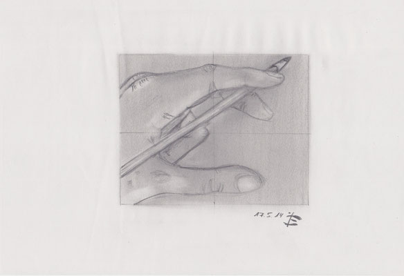 Benjamin Wolf, 2014, Bleistift, 21 x 29,5 cm