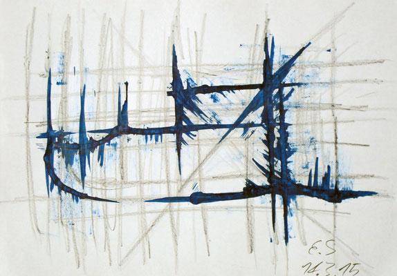 Elias Schüler (14 Jahre), 2015, Bleistift und Tusche, 21 x 29,5 cm