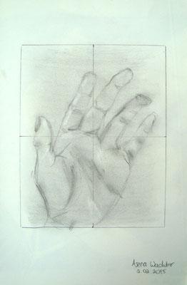 Asena Wachter (15 Jahre), 2016, Bleistift und Graphit, 29,5 x 21 cm