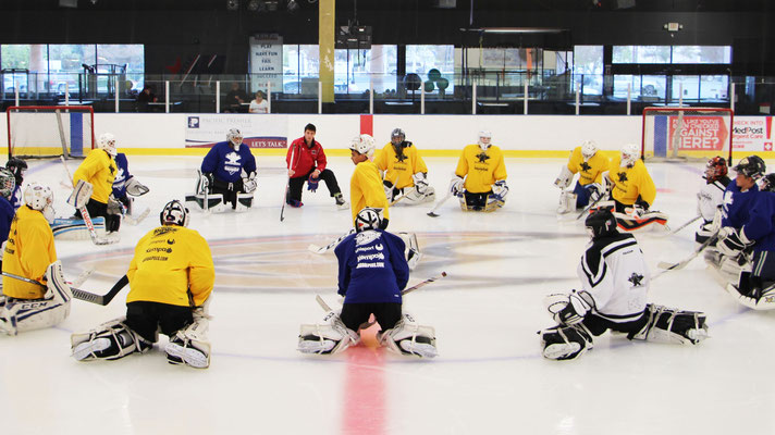 Ice Hockey Goalie Camps in Los Angeles, California, led by Reto Schurch, Goalie Action