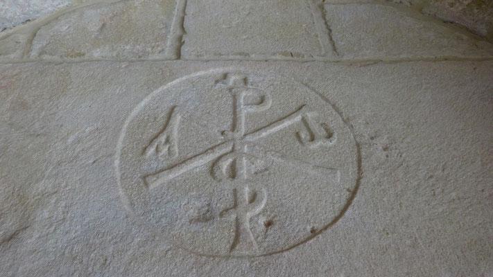 L'église de Fichous Riumayu - Détail de la la porte