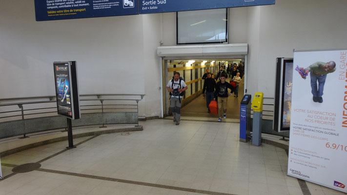 Gare de St Pierre des corps, on est bientôt arrivé