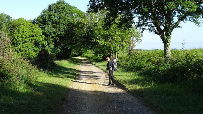 Philippe sur le chemin à la sortie de Arthez de Béarn