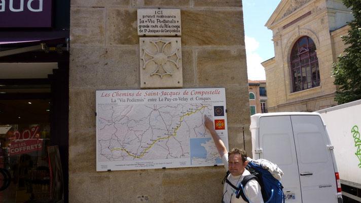 Le Puy - Thierry nous montre la route