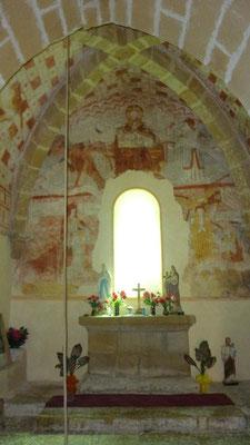 L'autel de la chapelle de Guirande