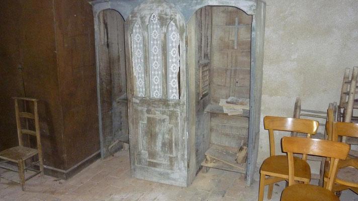 Le conféssionnal de la chapelle de Guirande