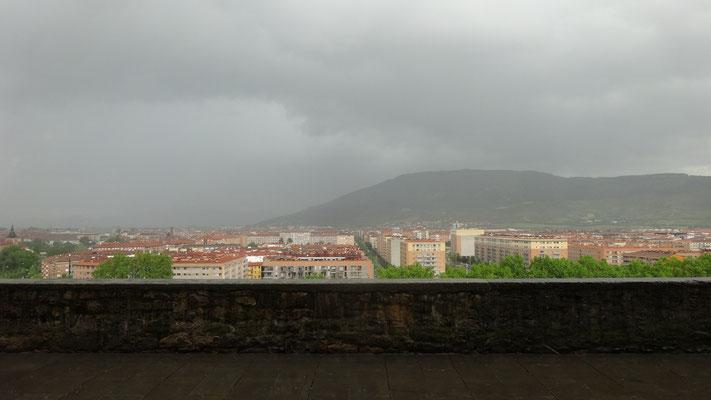 Gros orage sur Pamplona
