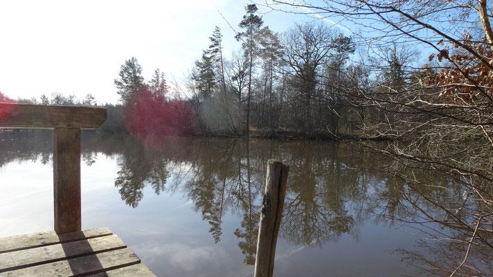L'étang après le chateau de la Cantée