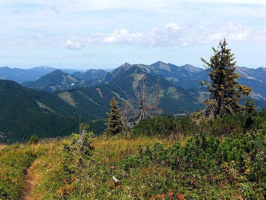 Das Reichraminger Hintergebirge im Norden vom Kamm der Bodenwies