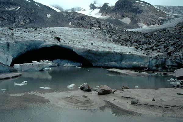 Ehemaliges Gletschertor am Ende des  Obersulzbachkeeses