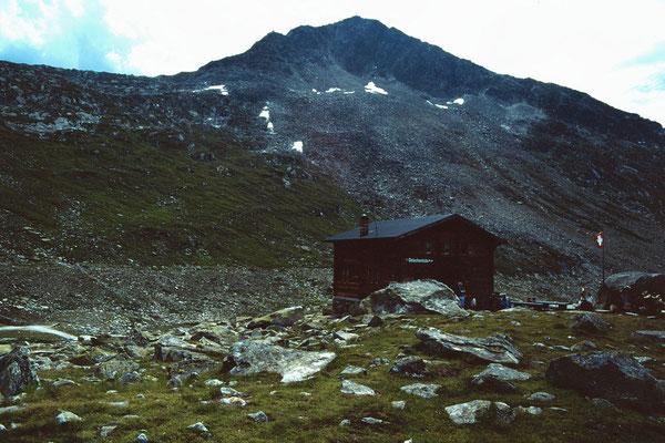Gletscherblickhütte gegen Eggishorn
