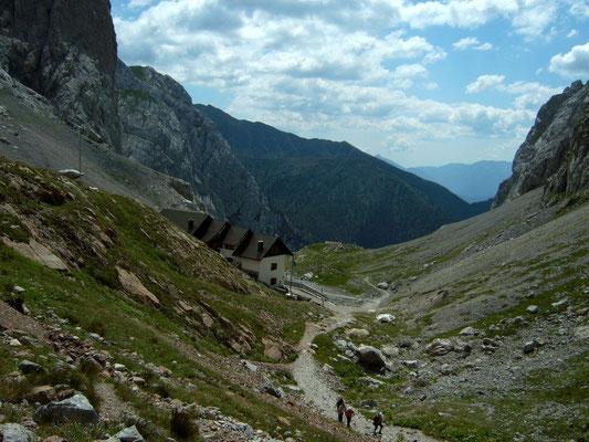 Blick in den italienischen Bereich des Wolayersees