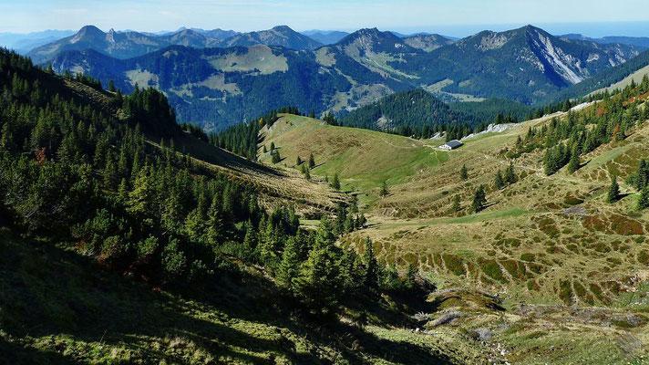 Westliches Spitzingseegebiet, Tegernseer Berge u.s.w.