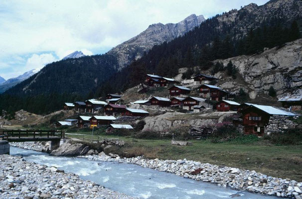 Dioe Lonza und der Gletscherstafel im hinteren Lötschental