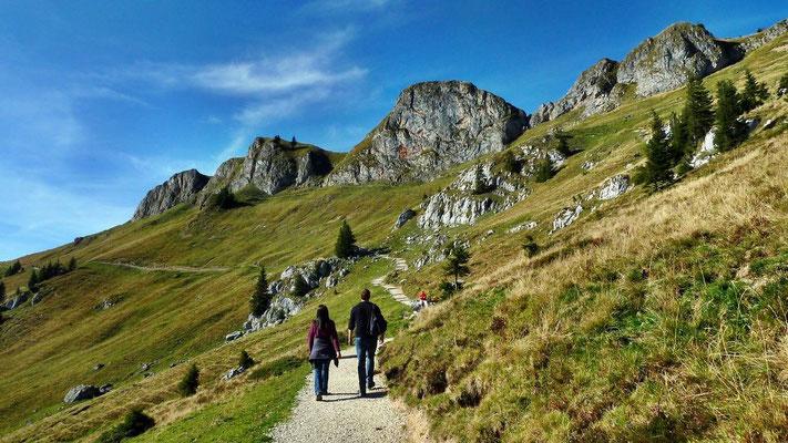 Rückweg vom Rotwandhaus Richtung Taubensteinbahn-Bergstation