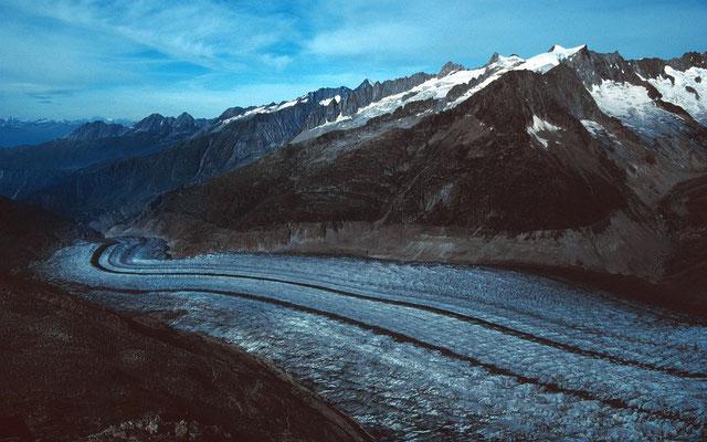 Aletschgletscher talauswärts