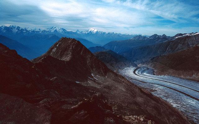 Aletschgletscher talabwärts