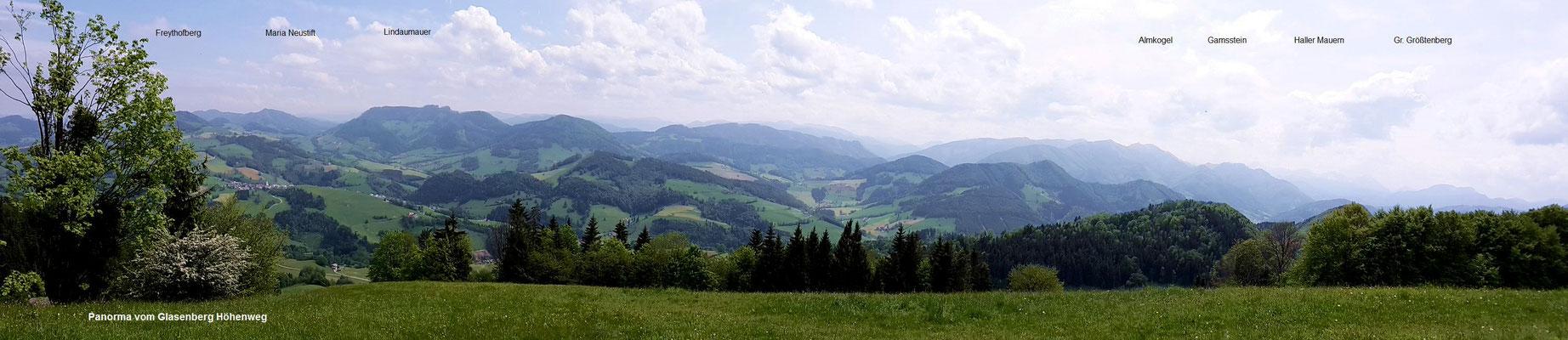 Panorama vom Glasenberg-Höhgenweg südwestlich des höchstenj Punkts