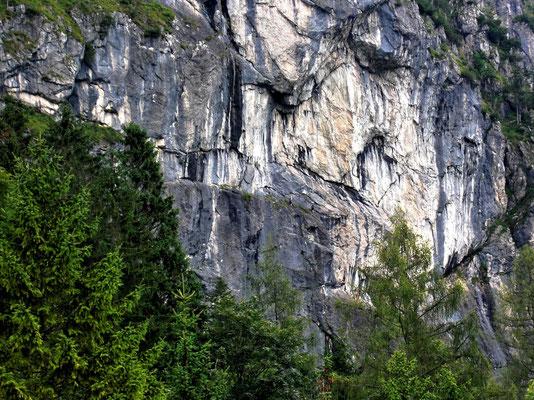Kletterer im unteren Teil der Kampermauer