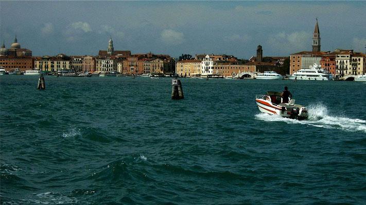 Venedig von der Fähre auf der Rückfahrt