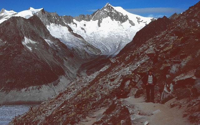 Das über 4000 m hohe Altetschhorn von der Ostseite