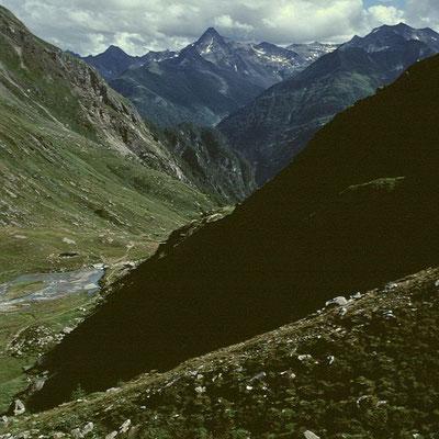 Abstieg von der Hütte ins Maurertal
