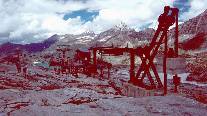 Bergstation Medelzkopflift vor der Talfahrt