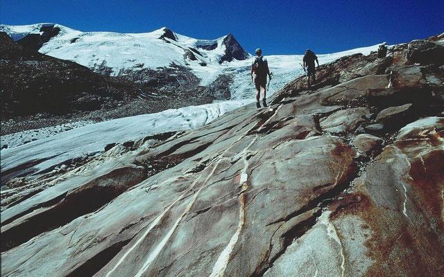 Aufstieg vom Gletscherschaupfad zur Alten Prager Hütte