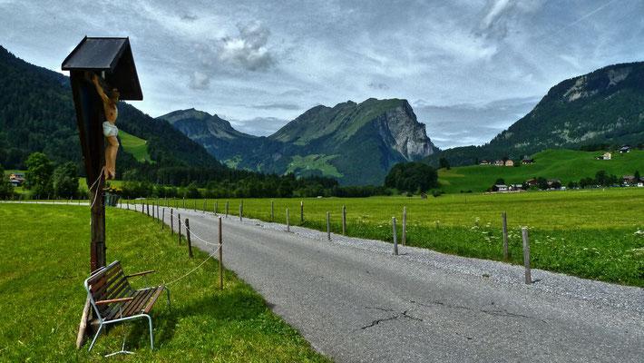 Kanisfluh von Süden aus dem Gebiet der Gemeinde Schoppernau
