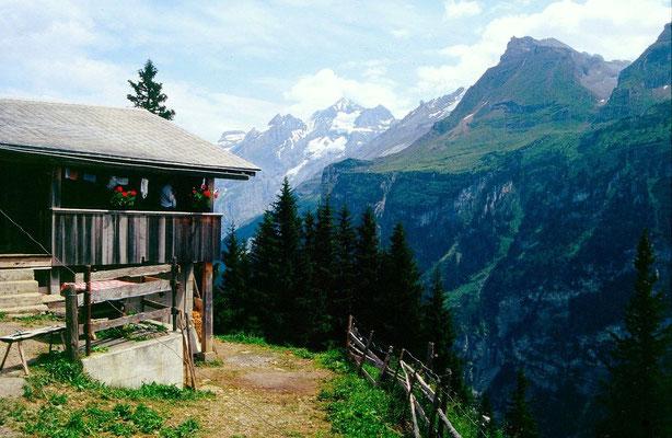 Alpgebiet Ryharts gegen Fisistock, Blümlisalp- und Doldenhorngebiet