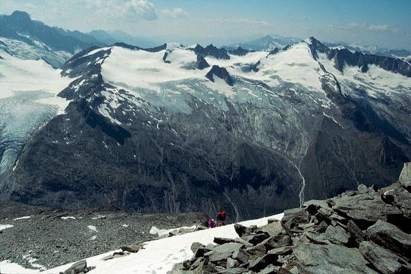 Blick vom Gipfel des Keeskogels Richtung Schlieferspitze