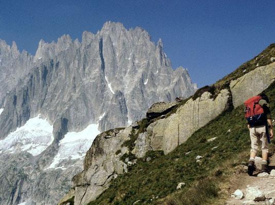 Grand Charmoz vom Steig zur Couverclehütte