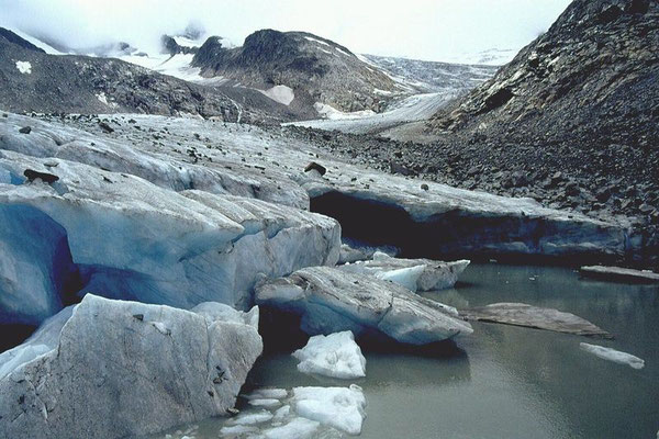 Das ehemalige Zungenende des Obersulzbachkeeses. Jetzt befindet sich hier ein Gletschersee.