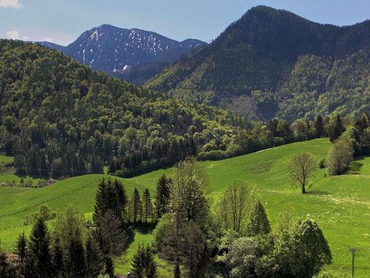 Die Berge bei Frauenstein am Rande des Nationalparks Kalkalpen