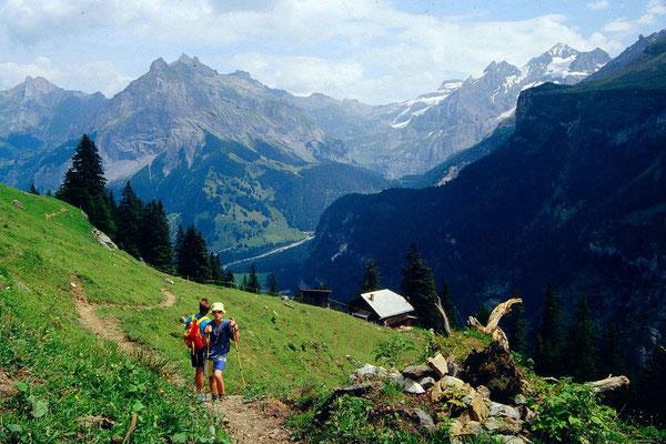 Bei Ryharts auf der Wanderung Kandersteg - Ryharts - Alolmenalp