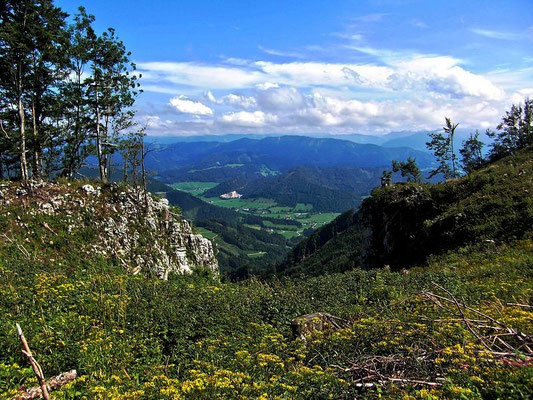 Das Mostviertel vom Plateau der Lindaumauer