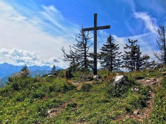 Beim Gipfelkreuz der Bodenwies.