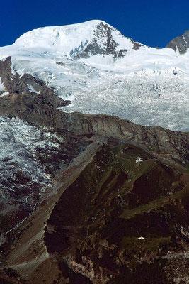 Das Gebiet der Laengfluh, die den Feegletscher teilt.