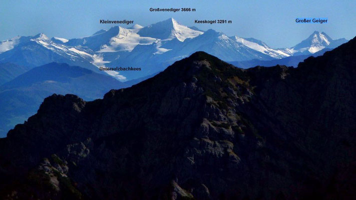 Blick zum Großvenediger-Gebiet