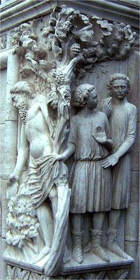 Steinrelief an der Eckseite des Dogenpalasts