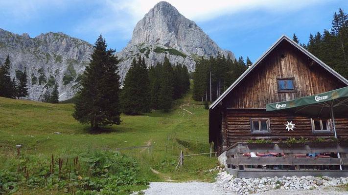 Kalbling und Gebäude der Oberst-Klinke-Hütte