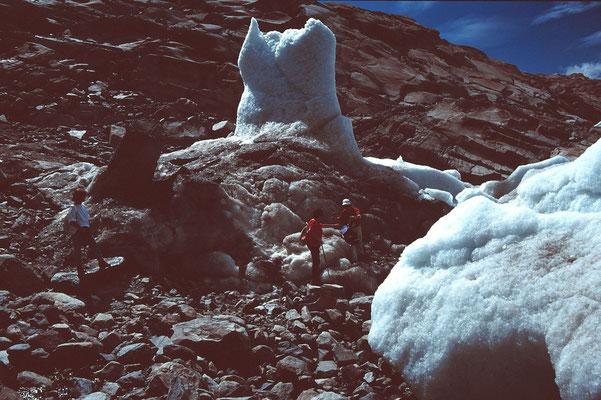Eisgebilde am Aletschlgetscher