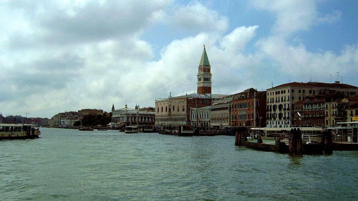 Venedig von der Fähre bei der Rückfahrt