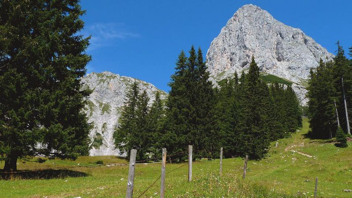 Beim Aufstieg auf den Riffel steigt man erst auf den Kalbling - einen Beliebten Aussichts- und Kletterberg zu.